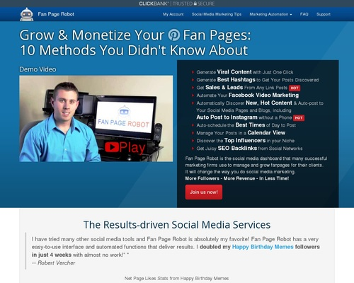Fan Page Robot | 10-in-1 Marketing Automation Software to Increase Social Media Followers