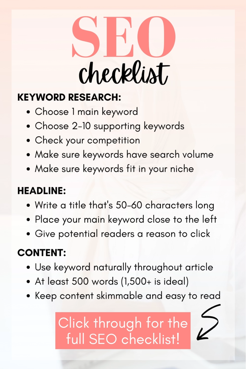 ✅ Free 38-Item SEO Checklist for Bloggers in 2021: On Page and Off Page SEO Checklist